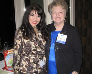 Cheryl-Ariaz Wicker with author Mary Hollingsworth